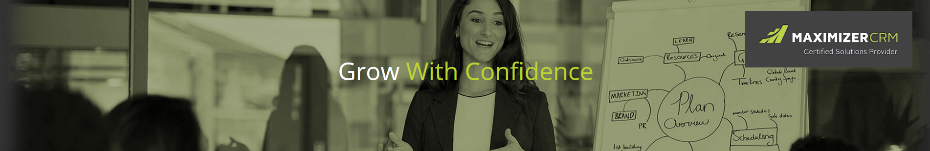 Grow with confidence banner